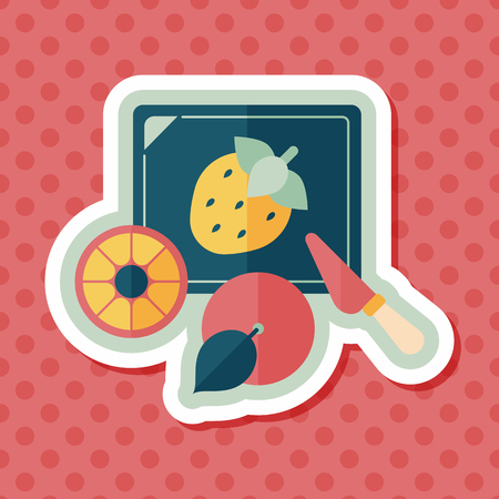 cooking chef: cutting toy flat icon with long shadow,eps10
