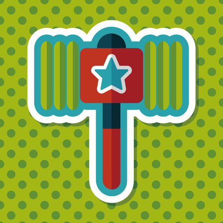 toy hammer flat icon with long shadow,eps10 Illustration