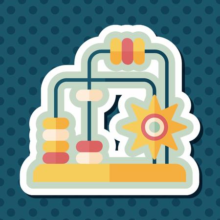 laberinto: educativo icono plana juguete con larga sombra, eps10