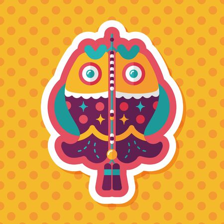 pendent: Chinese New Year flat icon with long shadow,eps, Chinese fish lucky pendant means May you always get more than you wish for.