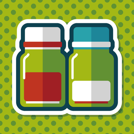 canned drink: Glass bottled drinks flat icon with long shadow,eps10