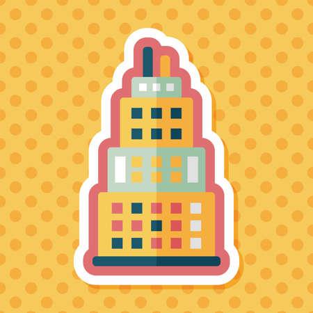 콘도: Commercial Building flat icon with long shadow,eps10
