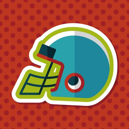 american football helmet collection: american football helmet flat icon with long shadow,eps10 Illustration