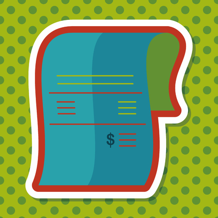 bank statement: shopping credit card bill flat icon with long shadow,eps10
