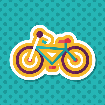 training wheels: Transportation bicycle flat icon with long shadow,eps10