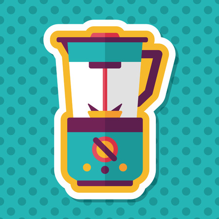 kitchenware electric juicer flat icon with long shadow,eps10 Illustration