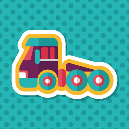 d�panneuse: Transportation Tow Truck flat icon with long shadow,eps10 Illustration