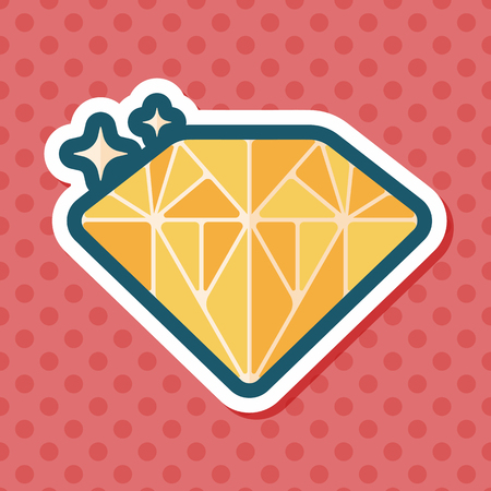 wedding rings: Propose diamond flat icon with long shadow,eps10 Illustration