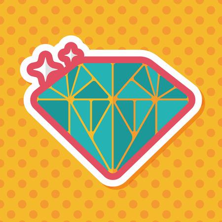 diamond rings: Propose diamond flat icon with long shadow,eps10 Illustration
