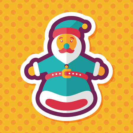 marionette: Santa Claus hand puppet flat icon with long shadow,eps10 Illustration