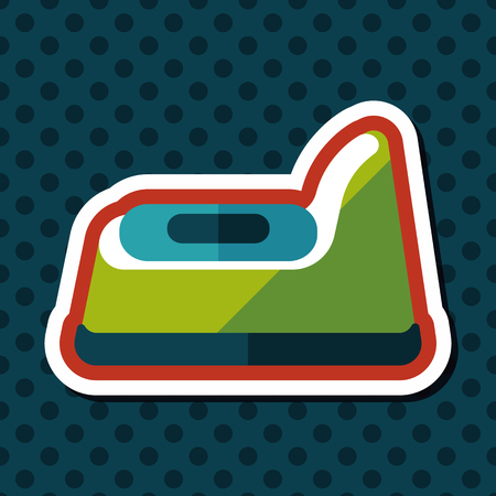 piddle: baby potty flat icon with long shadow,eps10