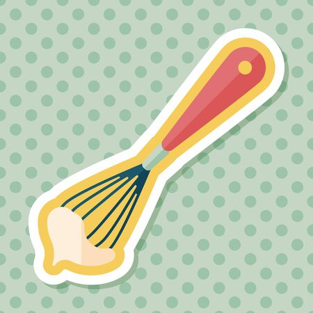 kitchenware beater flat icon with long shadow Illustration