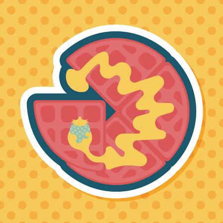 pancake: pancake flat icon with long shadow Illustration