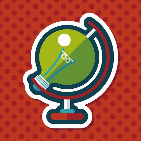 halogen: Light bulb flat icon with long shadow Illustration