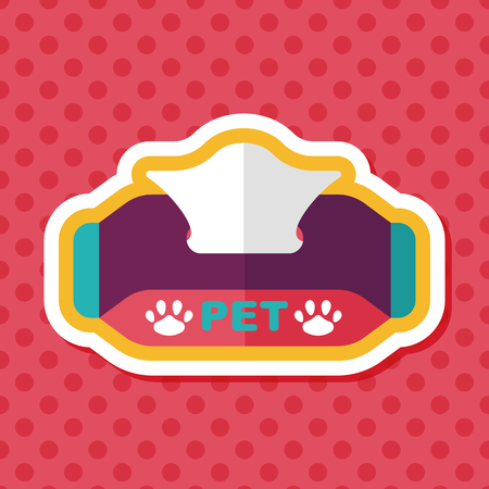 sniff: Pet style tissue case flat icon with long shadow Illustration
