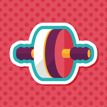 toning: exercise roller flat icon with long shadow