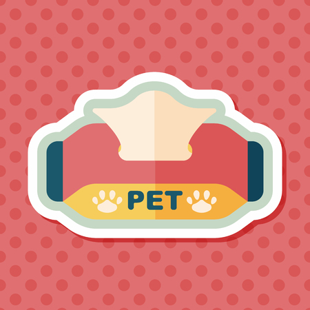 sniffles: Pet style tissue case flat icon with long shadow Illustration