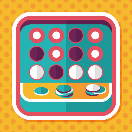 puzzle background: educational toy flat icon with long shadow Illustration