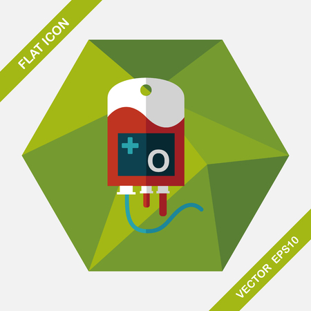 iv: IV bag flat icon with long shadow, eps10