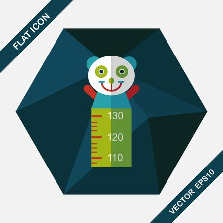 long and short scales: Height scale flat icon with long shadow,eps10 Illustration