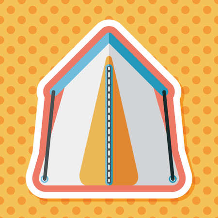 carpet: tourist tent flat icon with long shadow Illustration