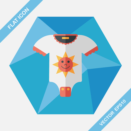 panties: baby clothes flat icon with long shadow,eps10 Vectores