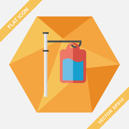 intravenous drip: IV bag flat icon with long shadow,eps10
