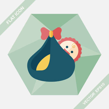funny baby: baby flat icon with long shadow,eps10