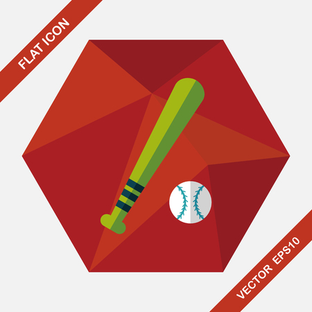 sphere base: Baseball flat icon with long shadow,eps10