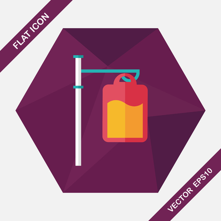 iv: IV bag flat icon with long shadow,eps10