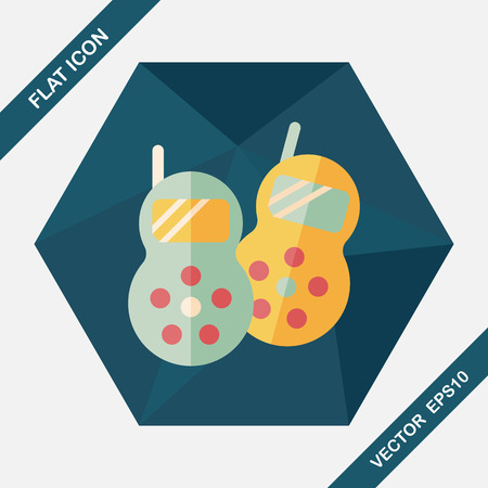 cellular repeater: walkie flat icon with long shadow,eps10 Illustration