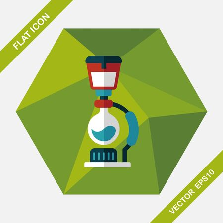 coffee maker: coffee maker flat icon with long shadow
