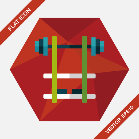 weightlifting: weightlifting flat icon with long shadow,eps10 Illustration