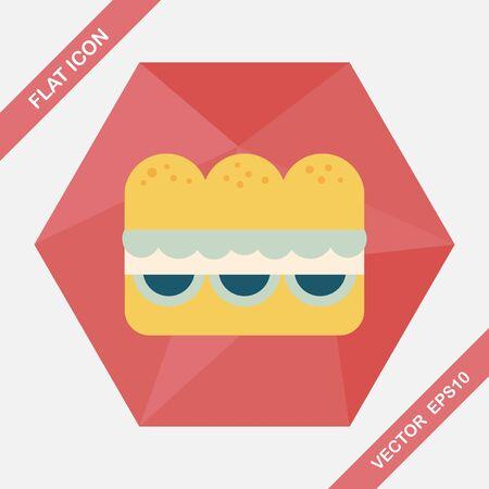sub menu: sandwich flat icon with long shadow  Illustration