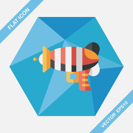 lazer: Space gun flat icon with long shadow,eps10