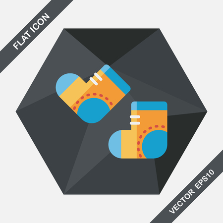 long socks: socks flat icon with long shadow,EPS 10 Illustration