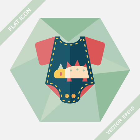 onesie: baby onesie flat icon with long shadow,EPS 10