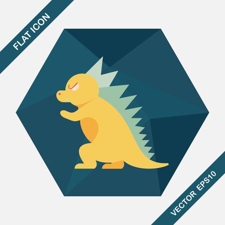 ascendant: Dinosaur flat icon with long shadow,eps10 Illustration