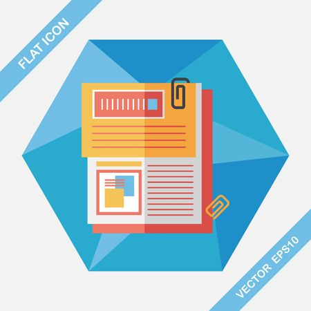 file folder: Document flat icon with long shadow,eps10 Illustration