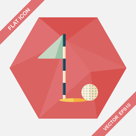 grass area: golf flat icon with long shadow