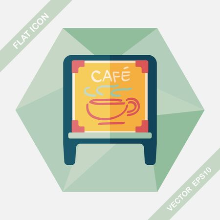 coffee mugs: Coffee shop signs flat icon with long shadow,eps10