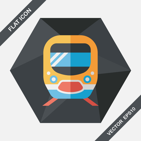 transit: Transportation subway flat icon with long shadow,eps10 Illustration