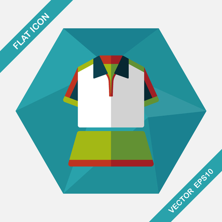 outfit: sport outfit flat icon with long shadow,eps10 Illustration
