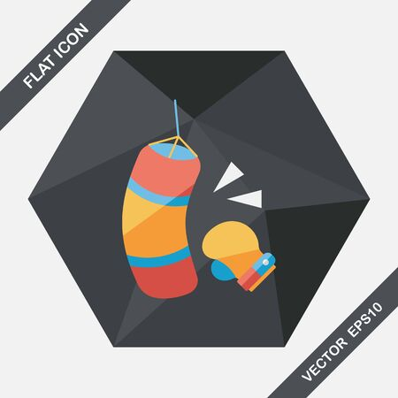 defending: boxing flat icon with long shadow,eps10