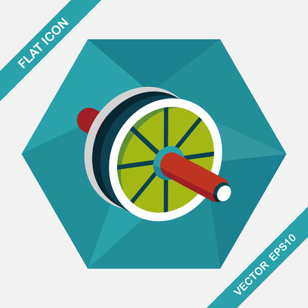 toning: exercise roller flat icon with long shadow,eps10 Illustration