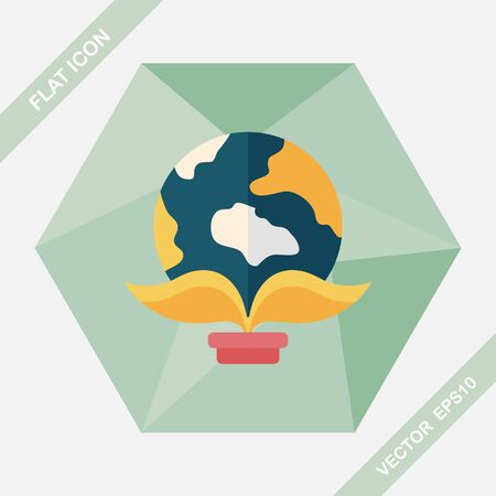 protect concept: Environmental protection concept flat icon with long shadow,eps10; Protect our environment, protect our planet
