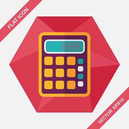calculator: calculator flat icon with long shadow,eps10