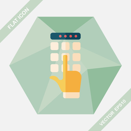technology transaction: ATM flat icon with long shadow,eps10
