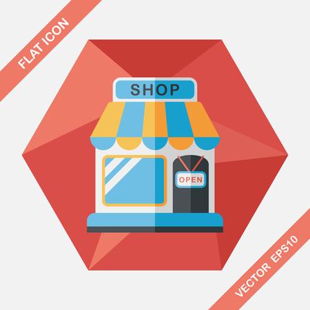 icône plate de magasinage à grandissime, eps10