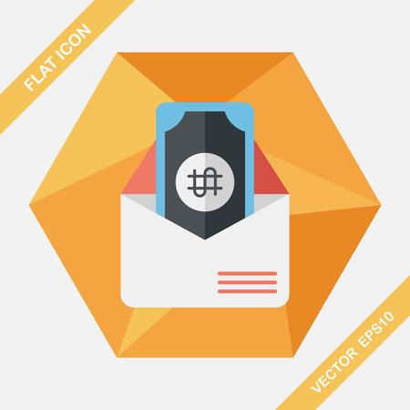 amount: bills flat icon with long shadow,eps10